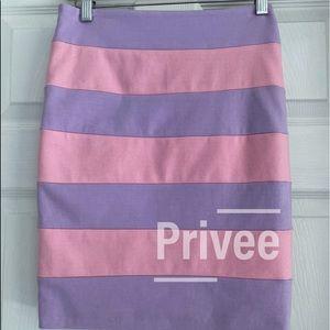 Privee pencil mini skirt